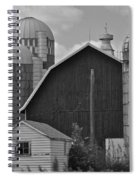 Barns And Silos Black And White Spiral Notebook