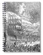 Barnums Museum Fire, 1865 Spiral Notebook