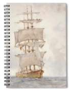 Barque And Tug Spiral Notebook