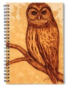 Barred Owl Coffee Painting Spiral Notebook