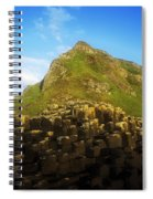 Basalt Rock Formations Near A Mountain Spiral Notebook
