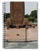 Base Of The Jallianwala Bagh Memorial In Amritsar Spiral Notebook