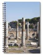 Base Of Trajan's Column And The Basilica Ulpia. Rome Spiral Notebook