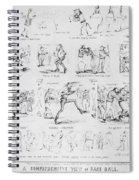 Baseball Cartoons, 1859 Spiral Notebook