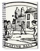 Baseball Game, 1820 Spiral Notebook