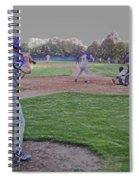 Baseball On Deck Digital Art Spiral Notebook