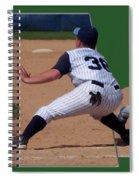 Baseball Pick Off Attempt 02 Spiral Notebook