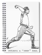 Baseball Pitching, 1889 Spiral Notebook