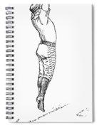 Baseball Player, 1889 Spiral Notebook
