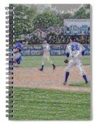 Baseball Runner Heading Home Digital Art Spiral Notebook