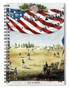 Baseball Song Sheet, 1860 Spiral Notebook
