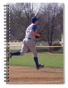 Baseball Step And Throw From Third Base Spiral Notebook