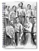 Baseball Teams, 1866 Spiral Notebook
