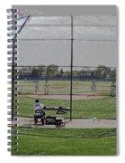 Baseball Warm Ups Digital Art Spiral Notebook