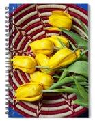 Basket Full Of Tulips Spiral Notebook