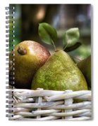 Basket Of Pears Spiral Notebook