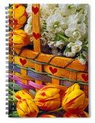 Basket Of Spring Flowers Spiral Notebook