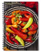 Basketful Of Peppers Spiral Notebook