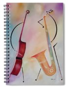 Bass And Sax Spiral Notebook