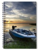 Bass Fishin' Evening Spiral Notebook