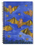 Bat People At The Pipistrelle Party Spiral Notebook