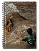 Bath Time In Laos Spiral Notebook