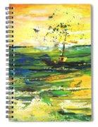 Bathed In Golden Light Spiral Notebook