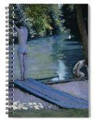 Bather About To Plunge Into The River Yerres Spiral Notebook