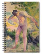Bather Drying Himself At St Tropez Spiral Notebook