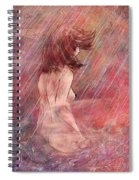 Bathing In The Rain Spiral Notebook