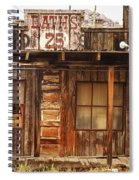 Baths Twenty Five Cents Spiral Notebook