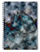 Battle Cloud - Horse Of War Spiral Notebook