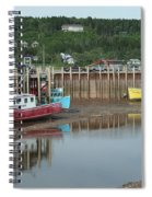 Bay Of Fundy - Low Tide Spiral Notebook