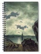 Bay Scene In Moonlight Spiral Notebook