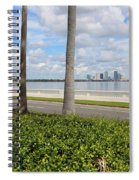 Bayshore Through Palms Spiral Notebook