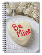 Be Mine Heart Cake Spiral Notebook