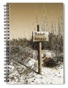 Beach Access Spiral Notebook