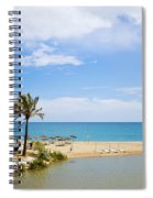 Beach And Sea On Costa Del Sol Spiral Notebook