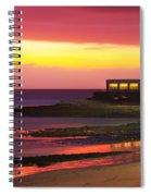 Beach At Sunset Spiral Notebook
