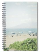 Beach At Wailea  Spiral Notebook