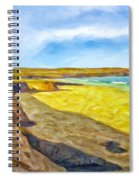 Beach Cliffs South Of San Onofre Spiral Notebook