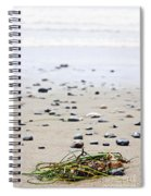 Beach Detail On Pacific Ocean Coast Of Canada Spiral Notebook