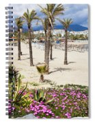 Beach In Puerto Banus Spiral Notebook