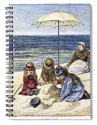 Beach Scene, 1879 Spiral Notebook