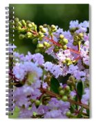 Beaded Lavender Lace Spiral Notebook
