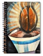 Bean Coffee Languages Poster Spiral Notebook