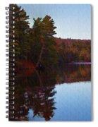 Bear Creek Lake In The Poconos Spiral Notebook