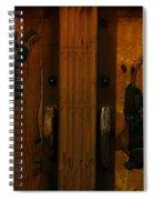 Bear Doors Carved Spiral Notebook