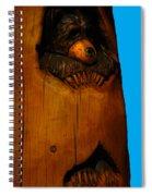 Bear In Log Spiral Notebook