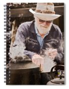 Bearded Miner Making Billy Tea Spiral Notebook
